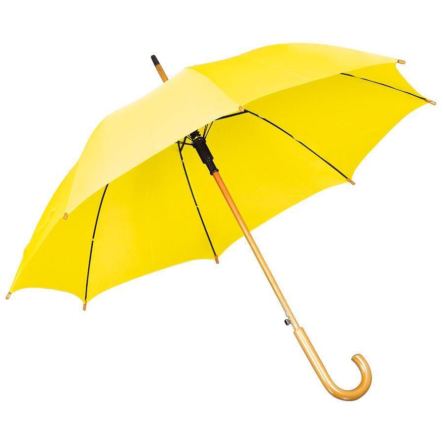 Желтый зонт-трость