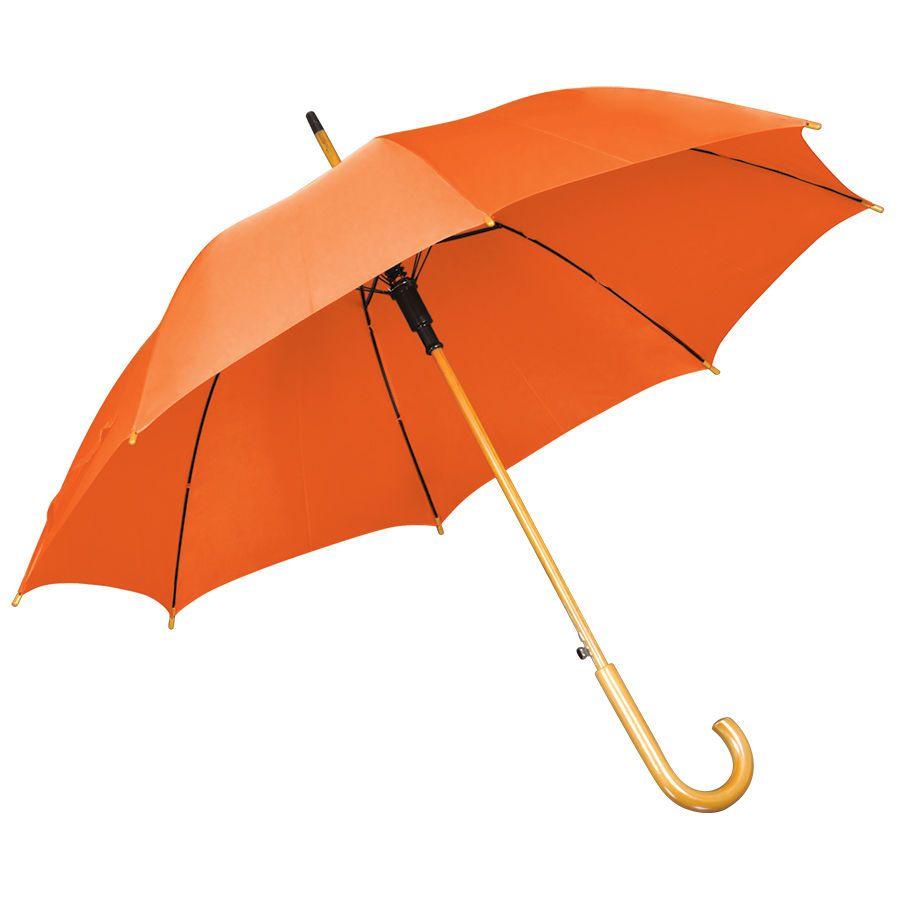 Оранжевый зонт-трость