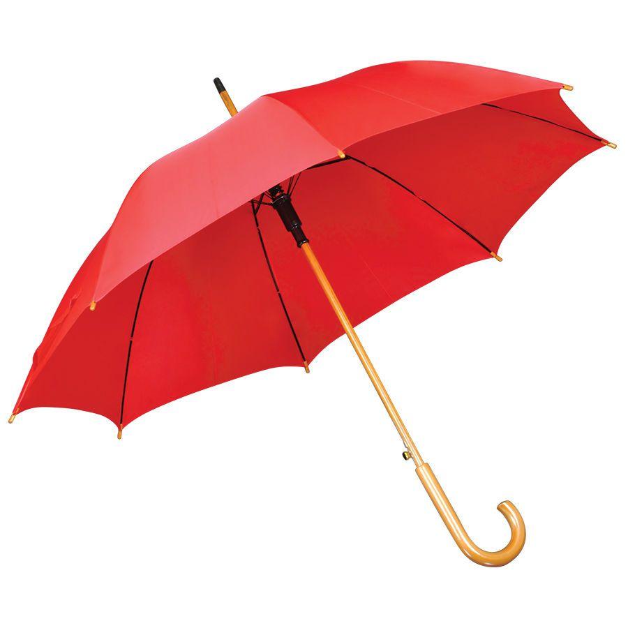 Красный зонт-трость