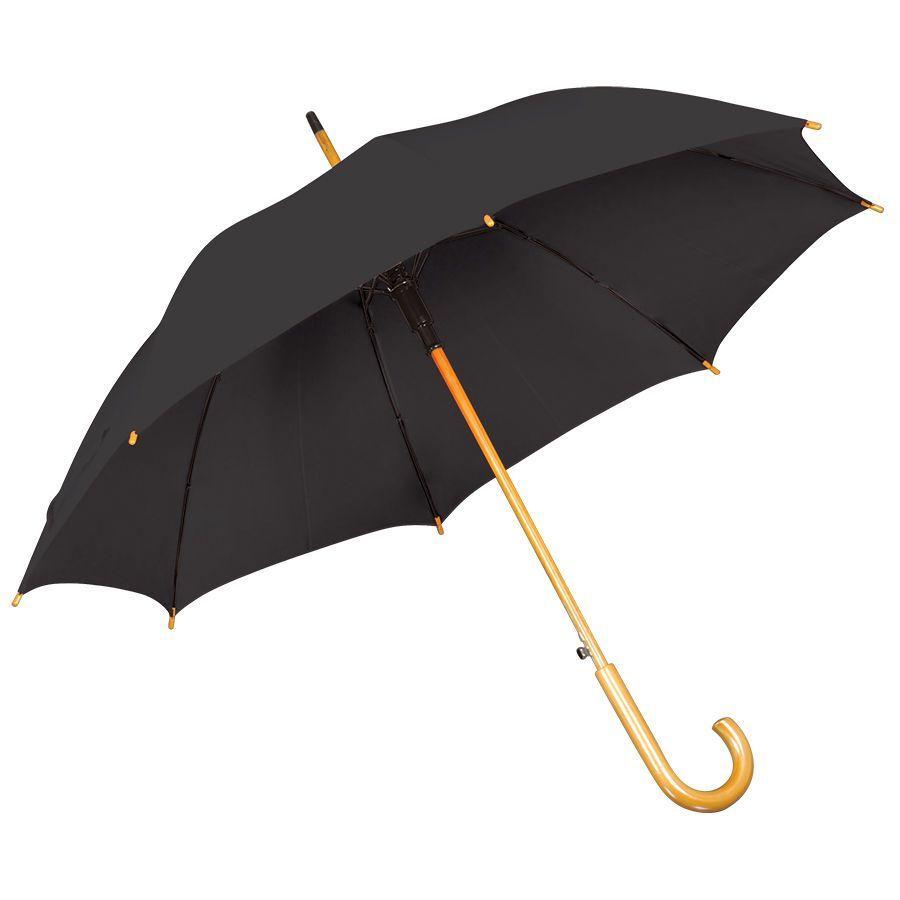 Черный зонт-трость