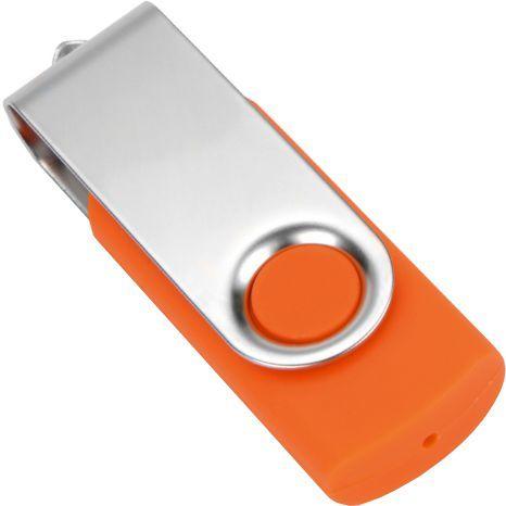 Оранжевая флешка Twist 8 Gb