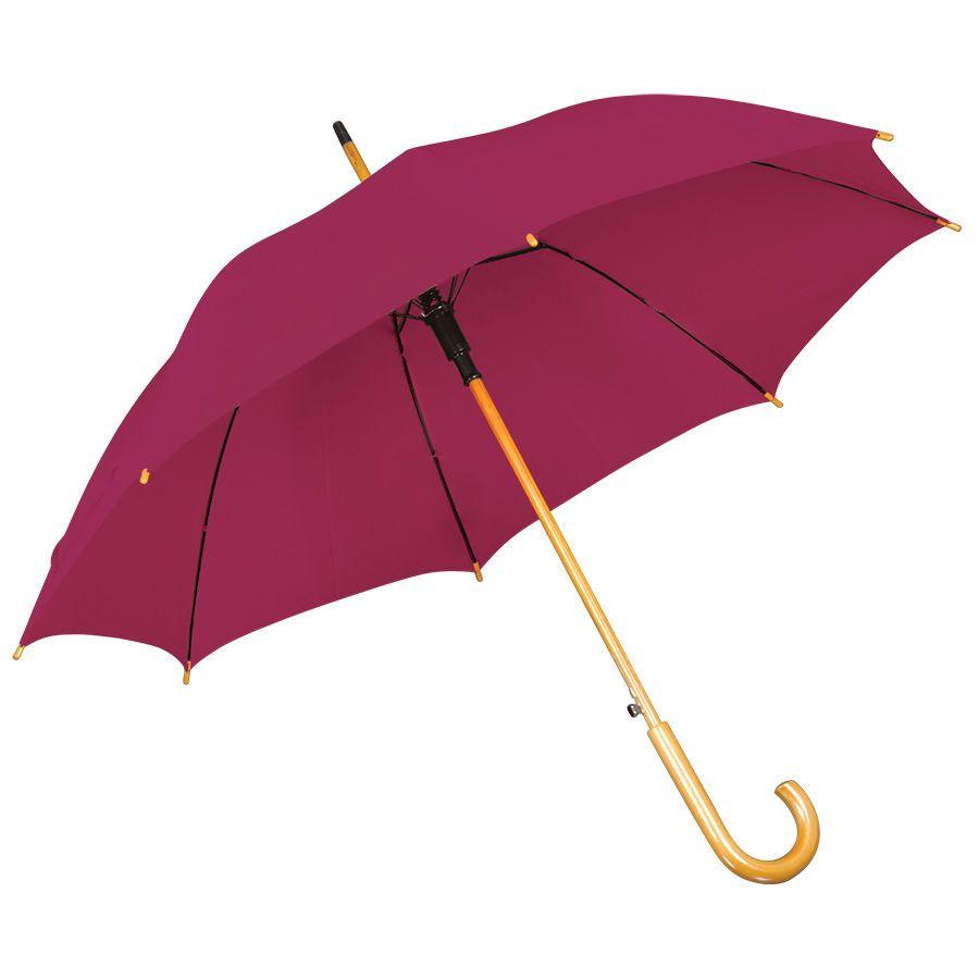 Бордовый зонт-трость