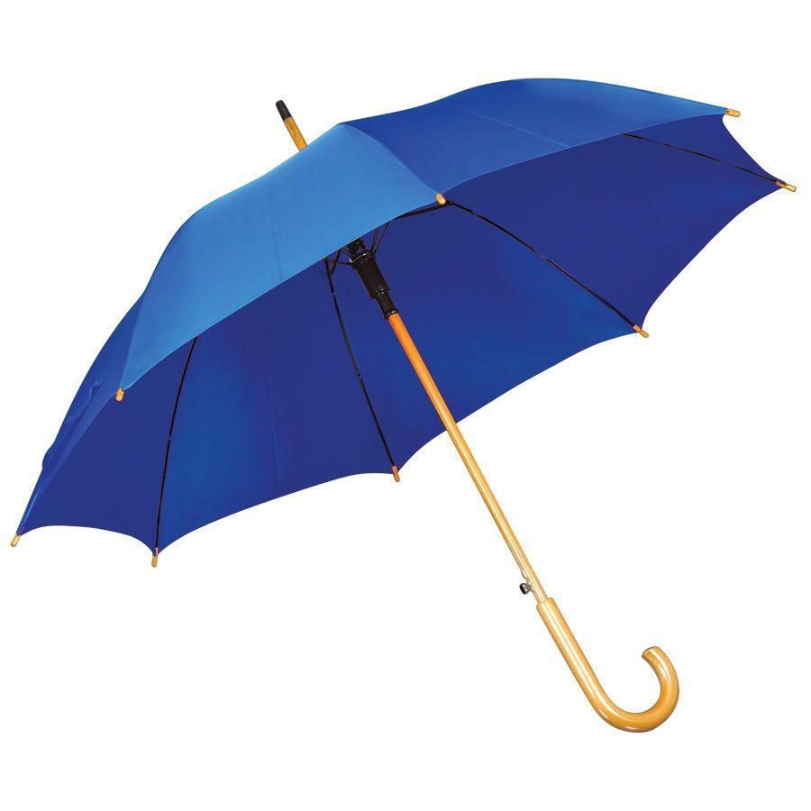 Синий зонт-трость