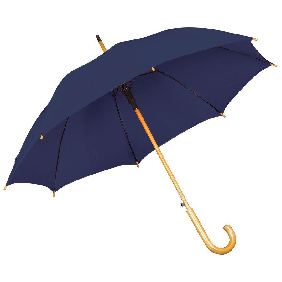Темно-синий зонт-трость