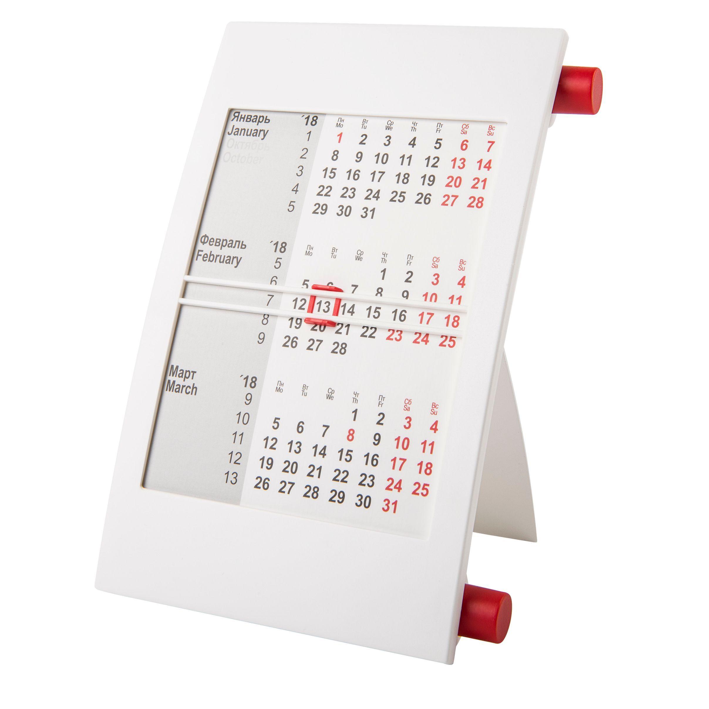 Календарь настольный на 2 года белый с красным