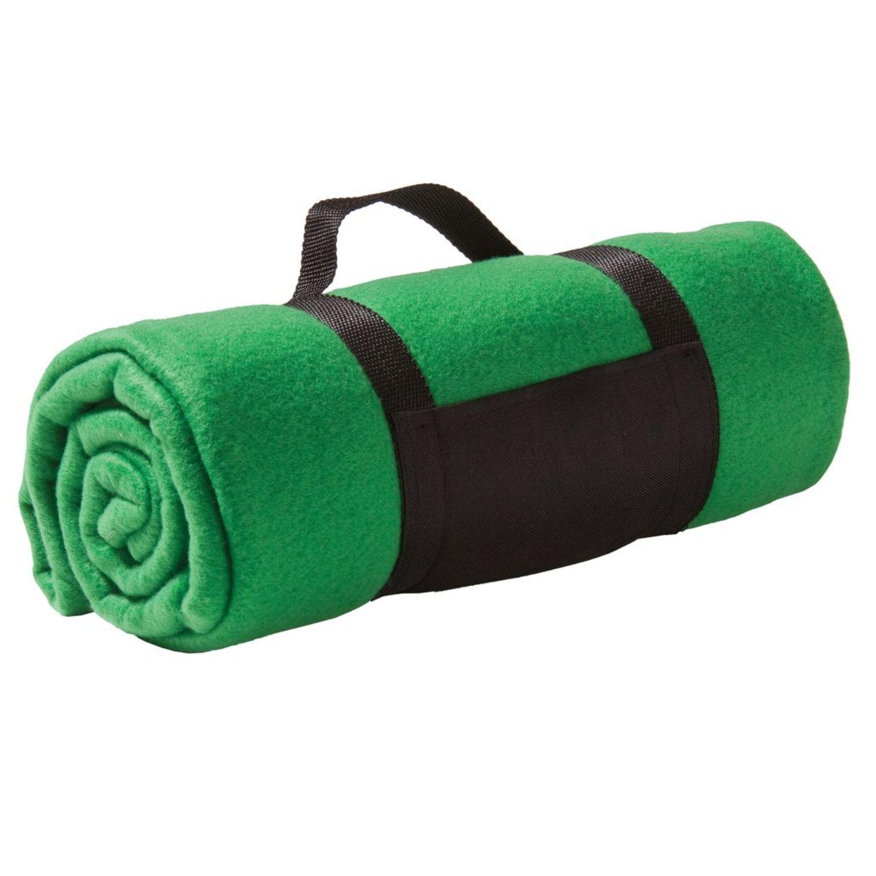 Зеленый флисовый плед Сolor