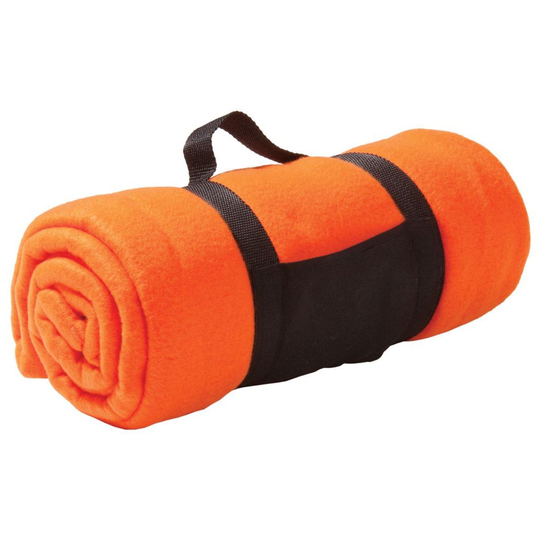 Оранжевый флисовый плед Сolor