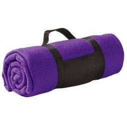 Фиолетовый флисовый плед Сolor