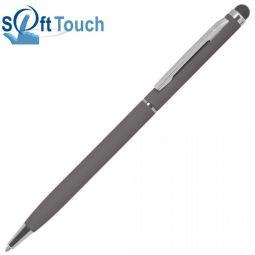 Серая ручка со стилусом TouchWriter Soft
